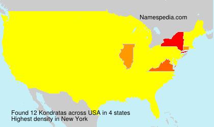 Surname Kondratas in USA