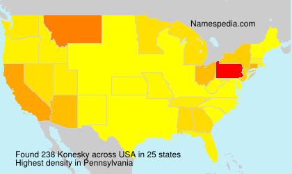 Familiennamen Konesky - USA