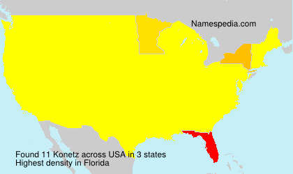 Surname Konetz in USA