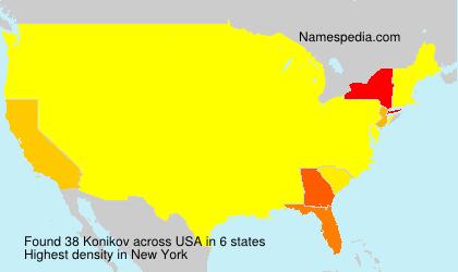 Surname Konikov in USA