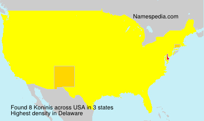 Surname Koninis in USA