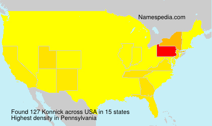 Surname Konnick in USA