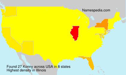 Surname Konny in USA