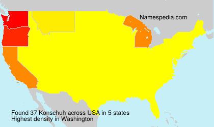 Familiennamen Konschuh - USA
