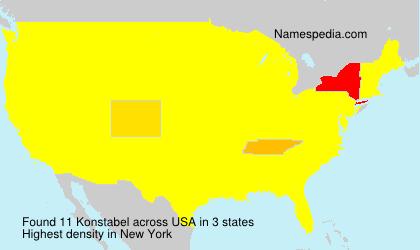 Surname Konstabel in USA