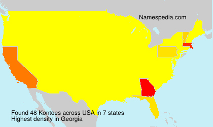 Surname Kontoes in USA