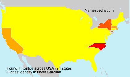 Surname Kontou in USA
