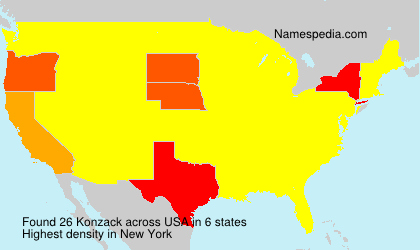 Surname Konzack in USA