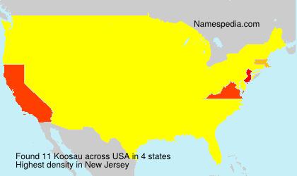 Surname Koosau in USA