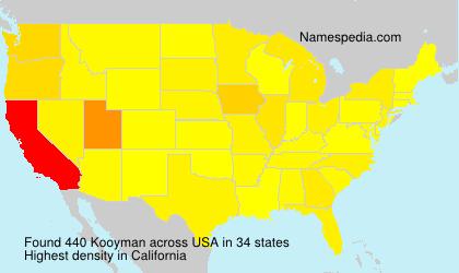 Surname Kooyman in USA