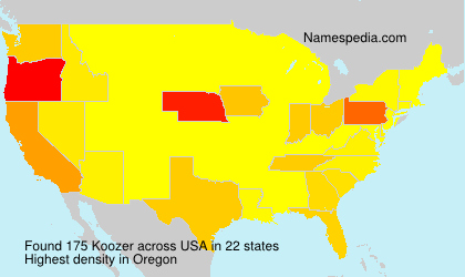 Surname Koozer in USA