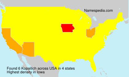 Surname Kopaitich in USA