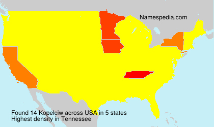 Surname Kopelciw in USA