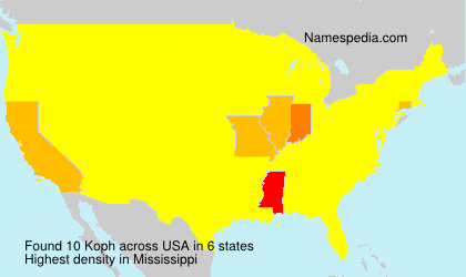 Surname Koph in USA