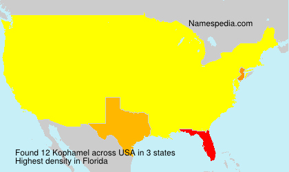Surname Kophamel in USA