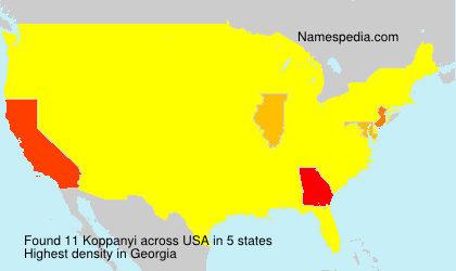 Surname Koppanyi in USA