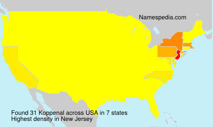Surname Koppenal in USA