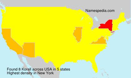 Surname Korall in USA