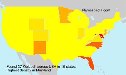 Surname Korbach in USA