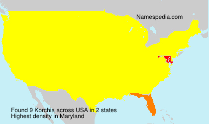 Surname Korchia in USA