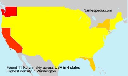 Surname Korchinskiy in USA