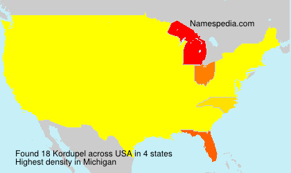 Surname Kordupel in USA