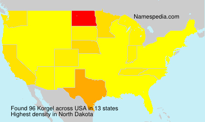 Surname Korgel in USA