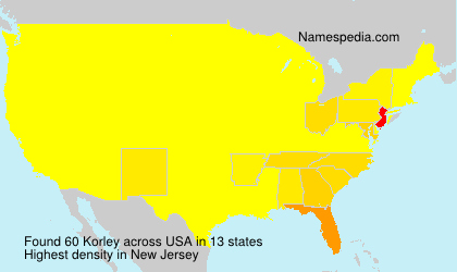Surname Korley in USA