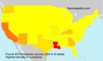 Surname Kornbacher in USA