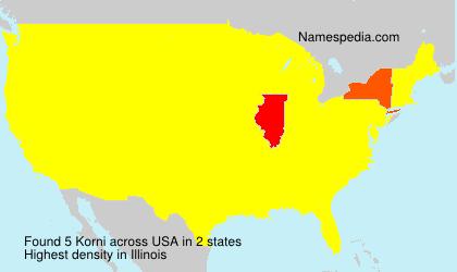 Surname Korni in USA