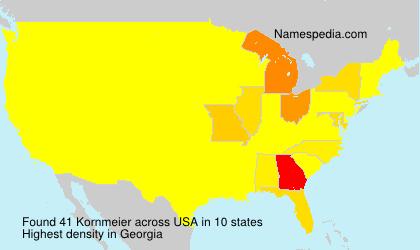 Surname Kornmeier in USA