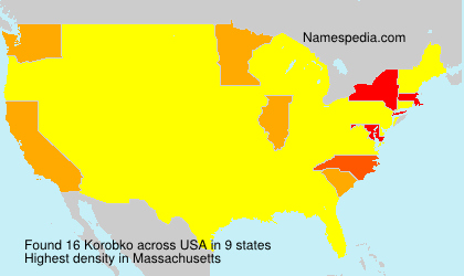 Surname Korobko in USA