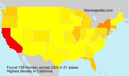 Surname Korolev in USA