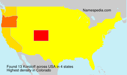 Surname Koroloff in USA
