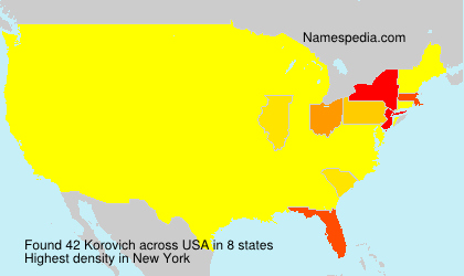 Surname Korovich in USA