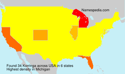 Surname Korringa in USA