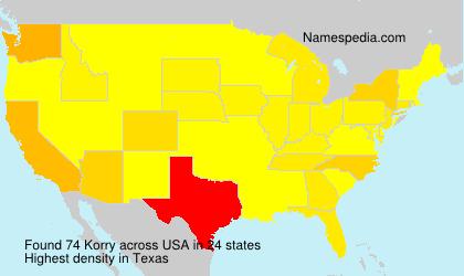 Familiennamen Korry - USA