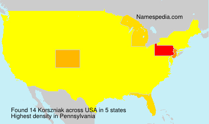 Surname Korszniak in USA