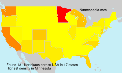 Surname Kortekaas in USA
