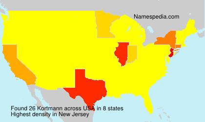 Familiennamen Kortmann - USA