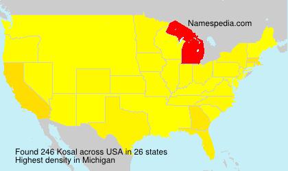 Surname Kosal in USA