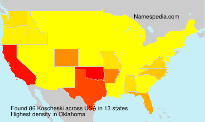 Surname Koscheski in USA