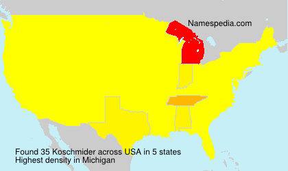 Surname Koschmider in USA