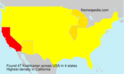 Surname Koshkarian in USA