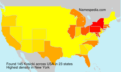 Surname Kosicki in USA