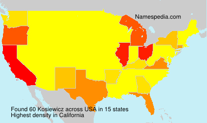 Surname Kosiewicz in USA