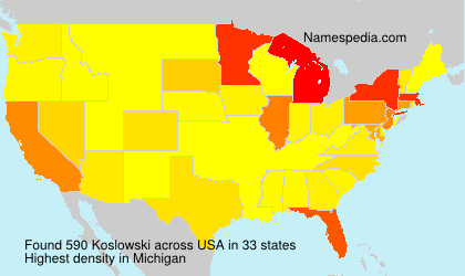 Surname Koslowski in USA