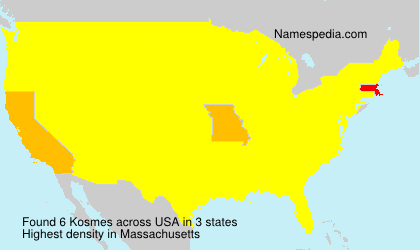 Surname Kosmes in USA