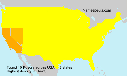 Surname Kosora in USA