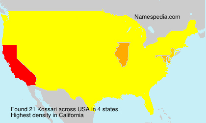 Surname Kossari in USA